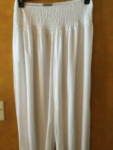 Beyond Capri Made In Italy One Size Harem Pants White