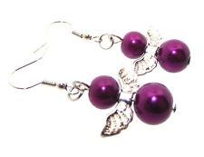 Versilberter Mode-Ohrschmuck mit Perlen (Imitation)