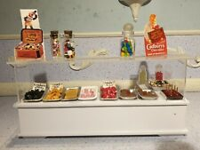 doll house furniture fully stocked sweet shop glass counter 1.12th