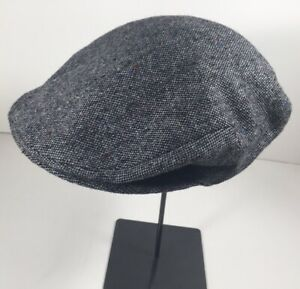 GRUPPO BORSALINO - Flat Cap - GRAY -speckled dot - wool - MODEL:D12033