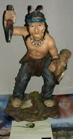 MODELLINO WESTERN STATUA GUERRIERO INDIANO INDIANI WEST INDIAN WARRIOR tex,sioux