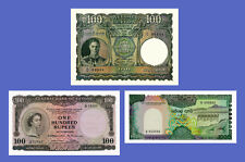 CEYLON - Lots of 3 notes - 100...1000 Rupees - Reproductions