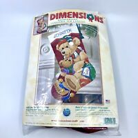 Dimensions Needlepoint Gift for Teddy Stocking Christmas Holiday Kit 9130