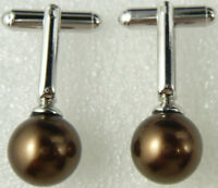 Mens Sea Shell Pearl Jade Tigereye Cuff Links Gentleman Party Cufflinks Gift New