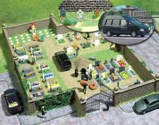 HO Busch 6049 CEMETERY KIT with HEARSE and Tombstones for Funeral Diorama