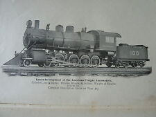 The Locomotive Up To Date Chas McShane Illustrated Printed 1903 Vintage Railroad