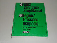 Werkstatthandbuch Service Manual Ford 1982 Motor Abgas Mustang Lincoln Cougar