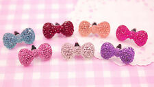 7 x Cute Sparkle Bow UNIVERSAL Headphone Dust Plug Kawaii Kitsch - UK SELLER