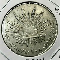 1878 GnJA MEXICO SILVER 8 REALES HIGH GRADE  CROWN