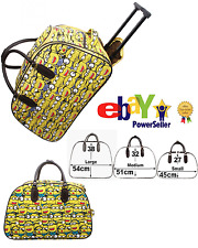 Kids Boy Funky Minion Print Vintage Holdall Trolley Bag Hand Luggage Travel Size