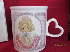 Precious Moments 1996 Coffee Mug You Have Touched So Many Hearts Heart Handle