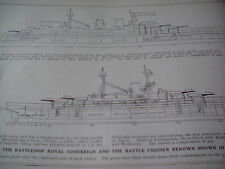 WW1 Battleship Diagrams from Great War 1916 from Encyclopedia Cutaway Artwork