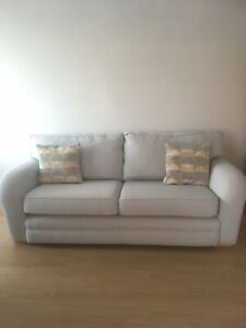 three seater sofa & 1 Chair Duck Egg Blue