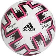 New adidas Uniforia Club Soccer Ball White Black Pink FR8067 Size 4&5