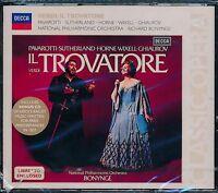 Verdi Il Trovatore CD NEW Pavarotti Sutherland Wixell National Philharmonic