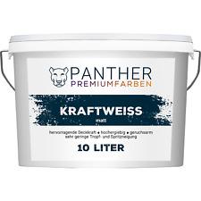 Panther Premiumfarben Wandfarbe Kraftweiß - 10 Liter