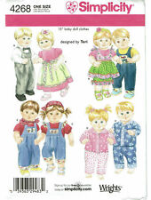 PATTERN for TWIN doll clothes Simplicity 4268 PJs dress 4268 boy girl Bitty Baby