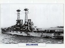 1909 USS DELAWARE (BB-28) Dreadnought Battleship Warship Photograph Maxi Card /