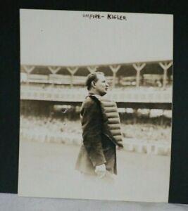 1910 Cy Rigler, Major League Baseball Umpire, Vintage 1 George Bain Photo, 4 x 5