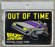 Back to the Future LARGE DeLorean Magnet Universal Studios Japan 2001 NEW SEALED