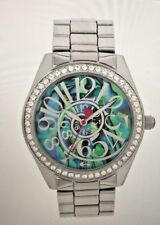 BETSEY JOHNSON Swirl ABALONE Dial CRYSTAL BOYFRIEND WATCH BJ00685-01BX NEW AUTH