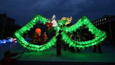 CHINESE Green illuminated DRAGON DANCE  Costume Led Lights 6M For 4 adult