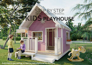 KIDS PLAYHOUSE PLANS,Digital PDF file download, DIY playhouse 7' x 9'