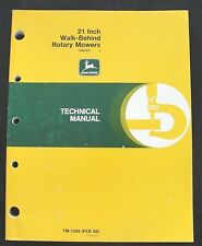 "JOHN DEERE 21"" WALK BEHIND STEEL DECK PUSH MOWER TECHNICAL MANUAL SER. 360001 UP"