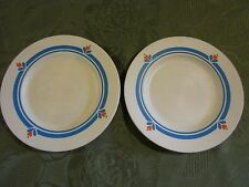Fisher Price Fun with Food Pretend Play Lunch Kitchen Dish White two Blue Plates