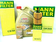 5liter ACEITE DE MOTOR CASTROL EDGE 5w30 Ll + Mann Kit Inspección Aire Filtro