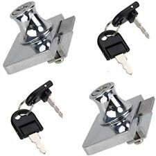 Zxhao 2Pcs Showcase Lock Stainless Steel No Drill Glass Door Display Cabinet Key