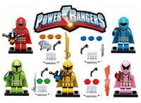 5 Set Power Rangers Mini Figures Weapons Building Blocks Toys Fit Lego