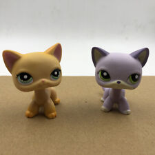 Lps #339 #2094 Pet Shop Short Hair Cat Kitty Kid Doll Yellow Collection Toy Rare
