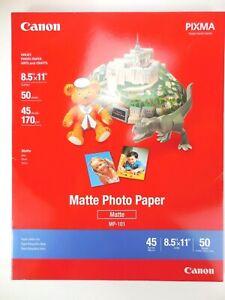 "Canon Matte Photo Paper MP-101 (8.5"" X 11"") 50 Sheets SEALED BOX Art Craft DIY"