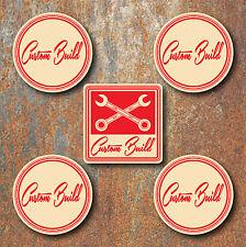 Custom Build Roue Centres Stickers 58 MM ROUND Hot Rat Rod Vdub Camper Beetle C