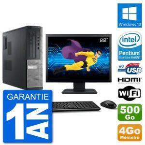 """PC Dell 3010 DT Ecran 22"""" G2020 RAM 4Go Disque 500Go HDMI Windows 10 Wifi"""
