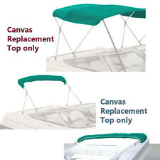 "BIMINI TOP BOAT COVER CANVAS FABRIC TEAL W/BOOT FITS 3 BOW 72""L 46""H 91""- 96""W"