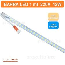 Barra LED 1mt 12W 220V striscia LED in profilo barra 1metro led SMD sottopensile
