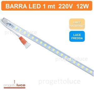 Barra LED 1mt 12W 220V striscia LED in profilo barra 1metro led SMD sottopensile