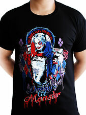 Harley Quinn Daddys Lil Monster Suicide Squad DC Comics Black Mens T-shirt S