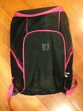 Wilson Tennis Racquet Bag - Black/Pink