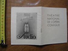 1947 PROGRAMME THEATRE NATIONAL DE L'OPERA COMIQUE Mireille Mistral Gounod