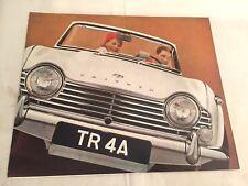 TRIUMPH TR4 A catalogue dépliant brochure, catalog prospekt, no copy
