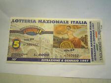 BIGLIETTO DELLA LOTTERIA NAZIONALE ITALIA - 1997 - CON TAGLIANDO C11-583