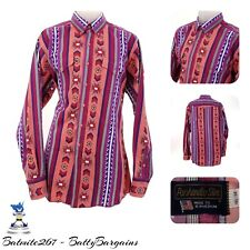VTG Panhandle Slim Mens L Santa Fe AZTEC RETRO Button Shirt L/S Western Cowboy