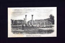 Biblioteca (Sala H della pianta) + Auguratorio Incisione del 1871
