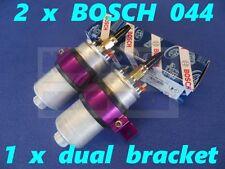 ✶2 x New BOSCH 044 Racing External Fuel Pumps & PURPLE Dual Bracket - 0580254044