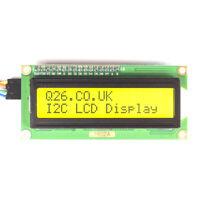 LCD I2C Display 1602 or 2004 Black on Green/Yellow Arduino Raspberry Pi UK