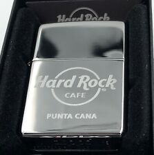 Hard Rock Cafe Zippo Lighter PUNTA CANA 🇩🇴 - Polished Chrome - NEW