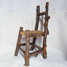 New listing Handmade Wooden Woven Stuffed Toy Chair Home Decor